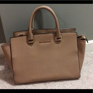 MK leather handbag